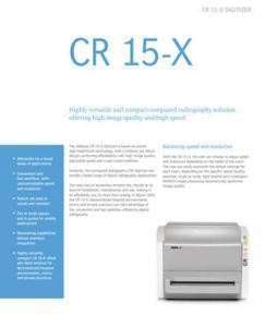 AGFA CR 15-X Brochure